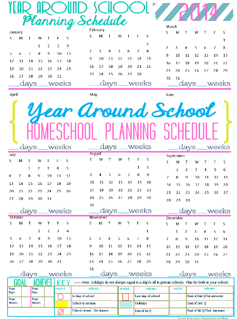 2014 Physical Year Around Homeschool Schedule @ Tinas Dynamic Homeschool Plus Step 5a. Choose Unique Forms JUST for You