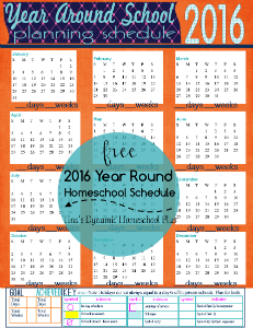 2016 Year Around Planning Schedule @ Tina's Dynamic Homeschool Plus 231 x 300