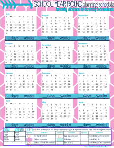 Free Homeschool Academic Year Calendar