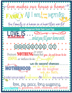 Back Cover Homeschool Planner or Home Management Binder | Tina's Dynamic Homeschool Plus