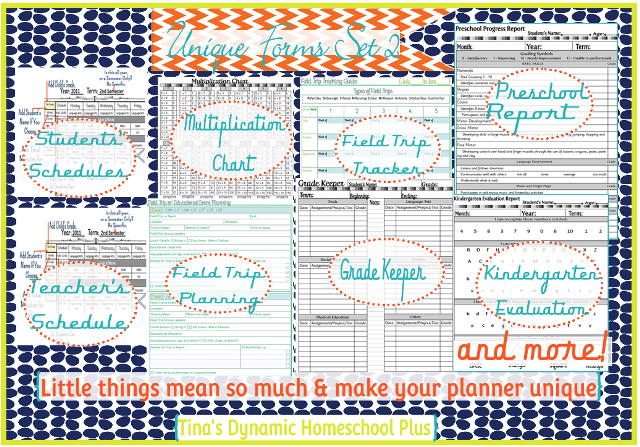 Homeschool Planning Forms