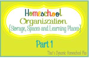 Homeschool Organization + {Storage, Spaces and Learning Places Part 1}