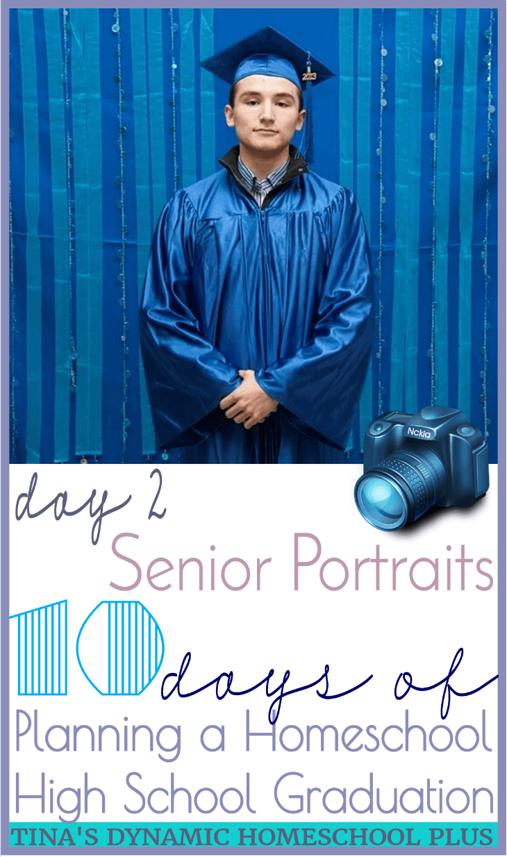 10 days-Planning Homeschool High School Graduation: Senior Portraits (Day 2). Many details were floating around in my mind, one thing I figured out quite early was that I could go ahead and get official portraits done and purchase his cap and gown. Grab some ideas for places to take pictures that last a lifetime!