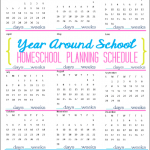 Free 2014 Year Around Homeschool Planning Schedule