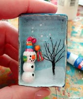 Snowman in a Match Box