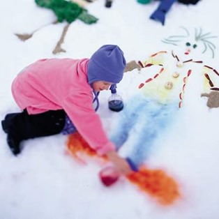 CP snow mosaic winter craft photo1 50 Keep Me Homeschooling Activities During the Long Cold Winter Days