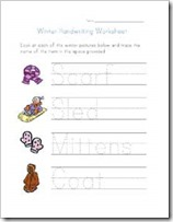 CP winter worksheet handwriting small thumb 50 Keep Me Homeschooling Activities During the Long Cold Winter Days