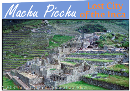 Free Machu Picchu Mini Book & Completed South America Lapbook