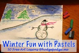 Winter Fun Chalk Pastel Tutorial thumb 50 Keep Me Homeschooling Activities During the Long Cold Winter Days