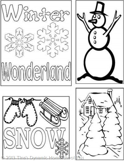 Winter Lapbook Cover @ Tina's Dynamic Homeschool Plus