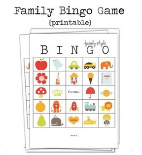 family bingo printable