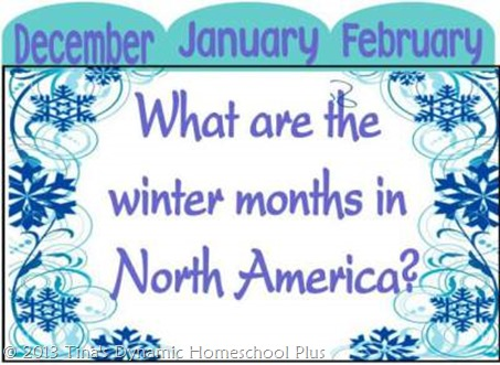 what are the winter months minibook @ Tiina's Dynamic Homeschool Plus