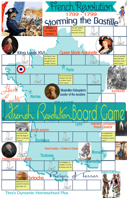 French Revolution Game Collage1 Unit Study:French Revolution + Free {Storming the Bastille} Game