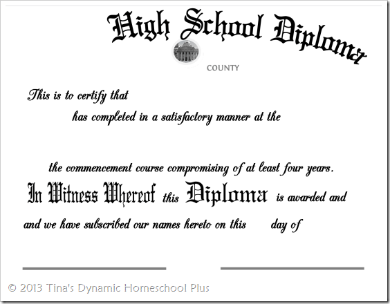 Homeschool Highschool Diploma - Editable-1