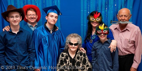Photo booth backdrop homeschool graduation @ Tina's Dynamic Homeschool Plus