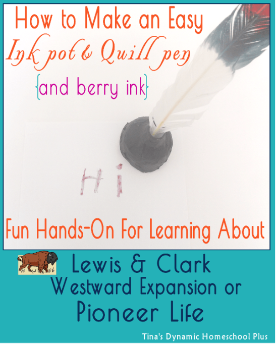 How To Make An Easy Ink pot & Quill Pen with Berry Ink