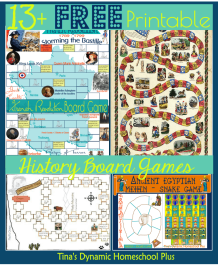 13 Free Printable History Board Games