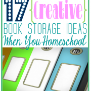 17 Creative Book Storage Ideas When You Homeschool