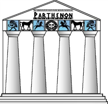 Ancient Greek Parthenon minibook @ Tina's Dynamic Homeschool Plus