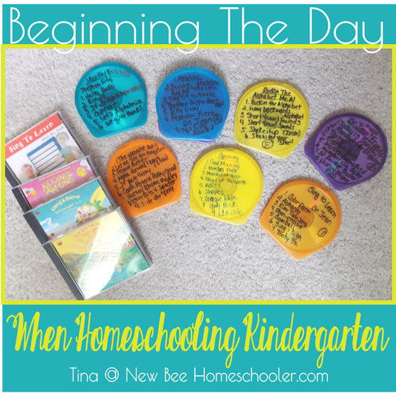 Beginning the Day When Homeschooling Kindergarten