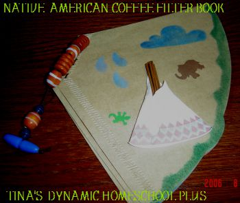 Coffee Filter Native American book @ Tina's Dynamic Homeschool Plus