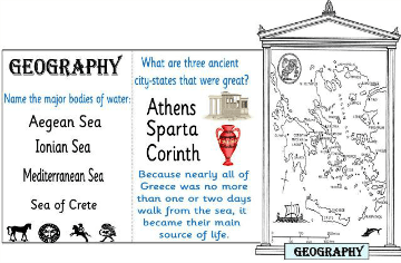 Greece its Geography Minibook @ Tina's Dynamic Homeschool Plus