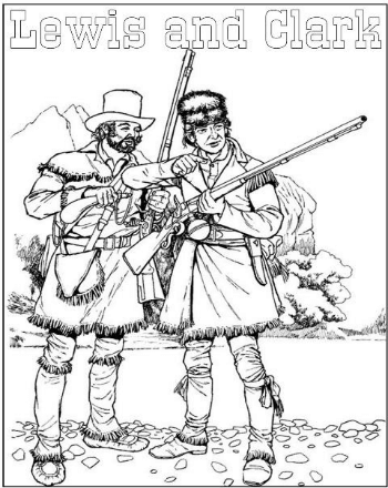 Lewis & Clark Coloring 1