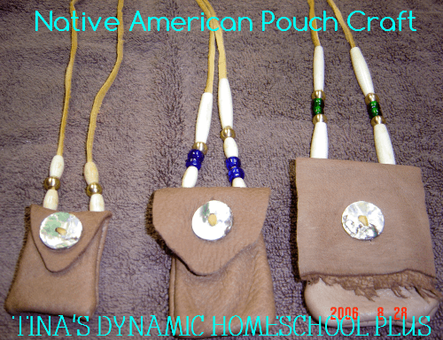 Native American Bead Work Pouch @ Tina's Dynamic Homeschool Plus