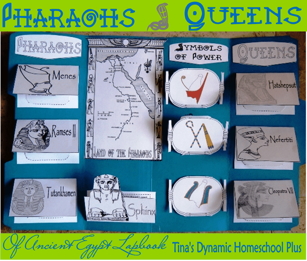 Pharaoh and Queens of Ancient Egypt Lapbook