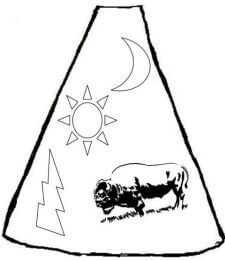 Tipi with pictograph