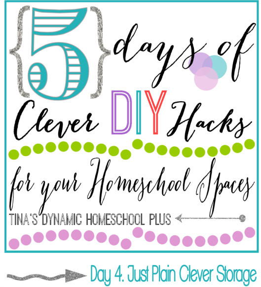 5 Days of Clever DIY Hacks for Your Homeschool Spaces Day 4 Just Plain Clever Storage thumb 5 Days of Clever DIY Hacks for Your Homeschool Spaces Day 4 Just Plain Clever Storage