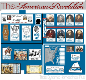 ▼ Exploring to Revolution - The American Revolution HUGE lapbook and free homeschool unit s