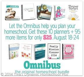 Omnibus planners promo5 25 Cents Homeschooling