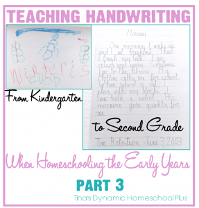 Teaching Handwriting When Homeschooling the Early Years  Part  3-1
