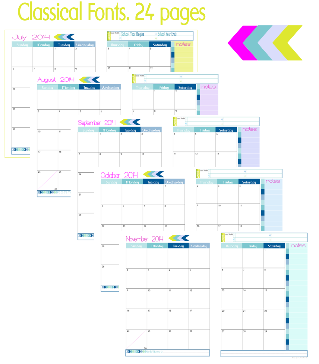 2 Page Month At A Glance Academic Calendars New Beginnings Collage 1 Back Cover Curriculum Planner