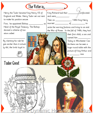 Bosworth Field 2 thumb 5 Days of Learning Printables:The World of Columbus and Sons Day 5 For Middle and High School