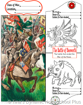 Bosworth Field thumb 5 Days of Learning Printables:The World of Columbus and Sons Day 5 For Middle and High School