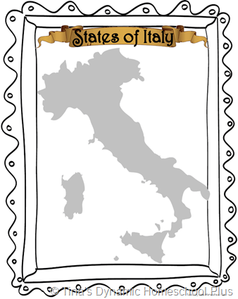 Cover Italy Map thumb 5 Days of Learning Printables:The World of Columbus and Sons Day 5 For Middle and High School