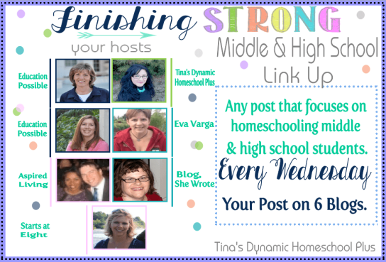 Finishing Strong thumb Finishing Strong – Homeschool Link Up Party {Homeschooling Middle & High School Years} #38.