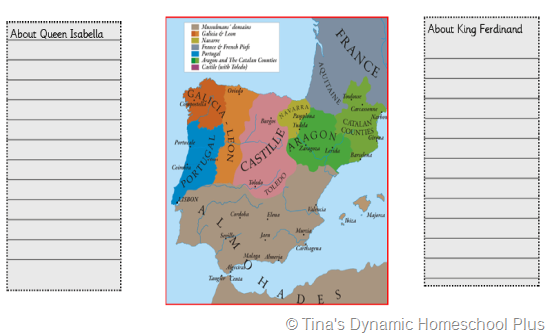 Isabella and Ferdinand Unite Spain 2 thumb 5 Days of Learning Printables:The World of Columbus and Sons Day 4 For Middle and High School