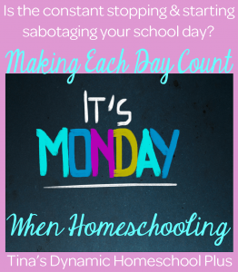 Making Each Day Count When Homeschooling