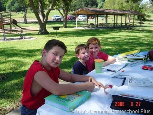 School at the Park thumb Making Each Day Count When Homeschooling