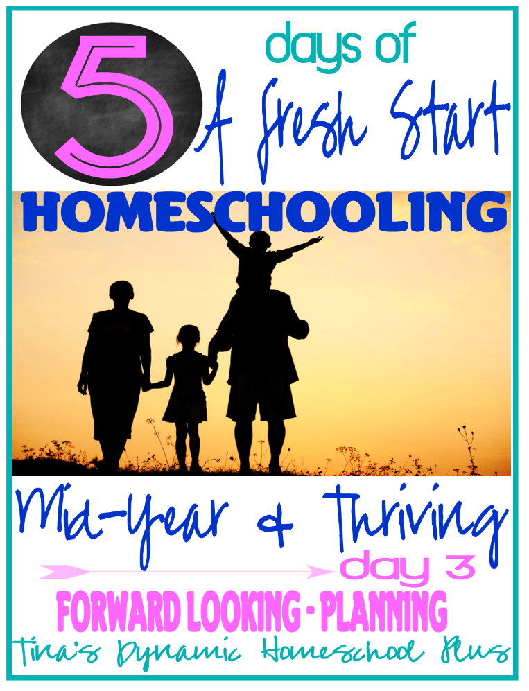 Beginning To Homeschool Mid Year Day 3 5 days of Homeschooling Mid Year and Thriving. Day 3 Forward Looking–Planning!