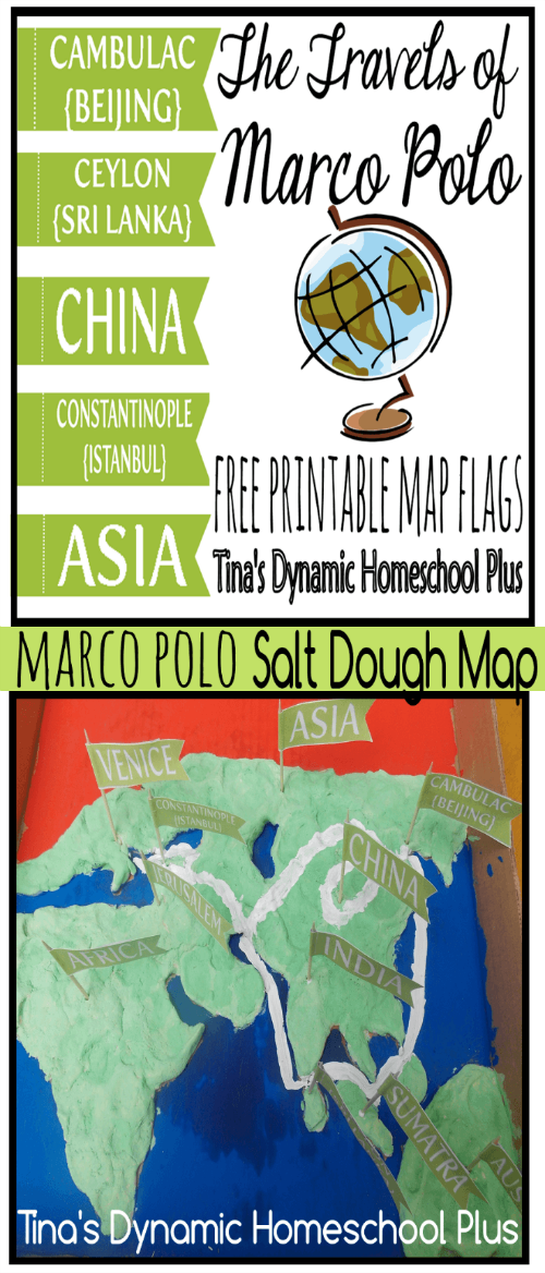 Make a Fun Salt Dough Map Marco Polo Travels @ Tina's Dynamic Homeschool Plus