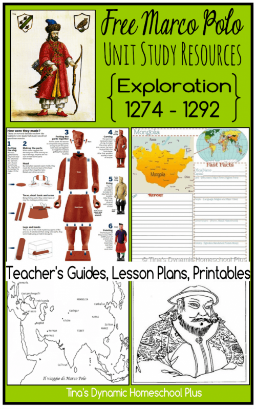 Marco Polo Unit Study Free Resources @ Tina's Dynamic Homeschool Plus