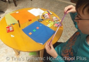 Persian Mosaic Craft Step 2 @ Tina's Dynamic Homeschool Plus