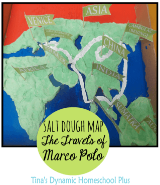 Salt Dough Map Marco Polo Travels @ Tina's Dynamic Homeschool Plus