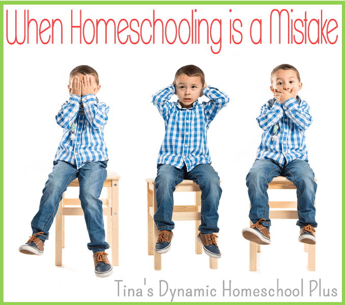 When Homeschooling is a Mistake - what do you do then? Grab these tips for sticking it out!