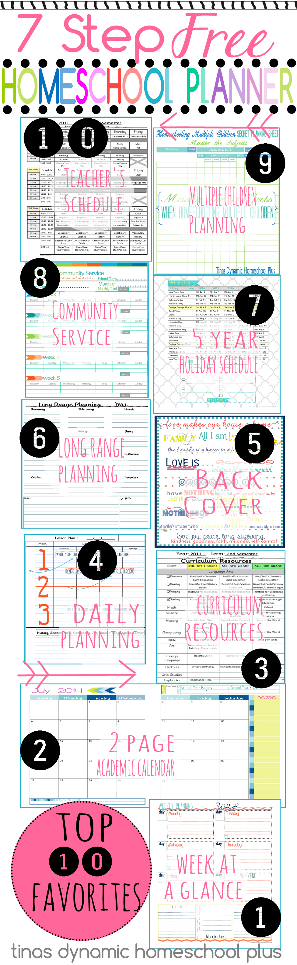 7 Step Homeschool Planner - Top 10 Reader Favorites