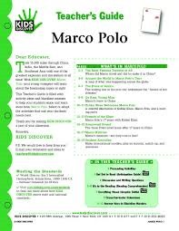 Marco Polo Discover Kids Teachers Guide